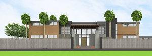 3D resort village modern model