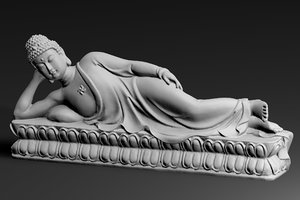 3D lying buddha - entering