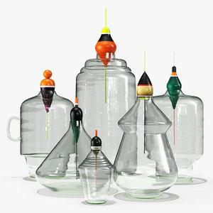 3D model vases pescadous