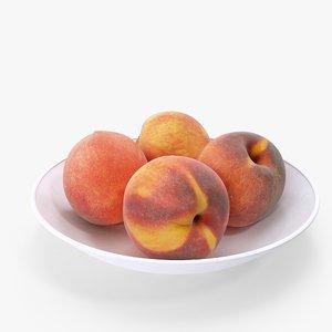 peaches plate 3D model
