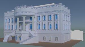 3D house white model