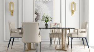 3D dining room model