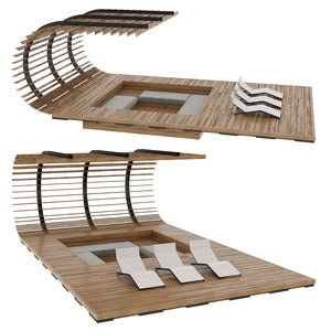 3D model architecture gazebo pergola