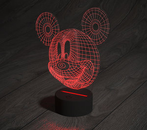 led mickey mouse lamp 3D model