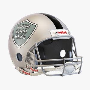 3D american footbal helmet riddell