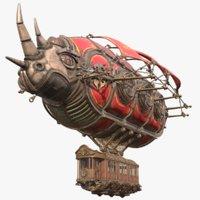 Airship Steampunk Rhinoceros