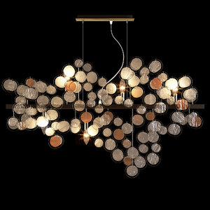 Kare pendant lamp clouds clear