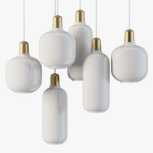pendant lamp amp normann 3D model