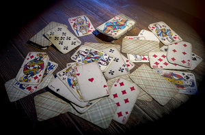 3D old playing cards model