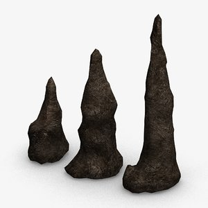 set stalagmites base - 3D model