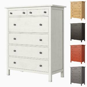 ikea hemnes 6-drawer chest model