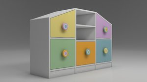 toy cabinet drawer shelf storage