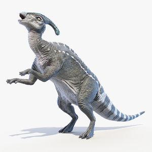 parasaurolophus saurolophus 3D model