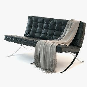 3d model barcelona sofa