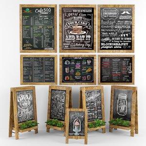 chalkboards board 3D model