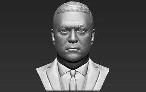 3D mike pompeo bust printing