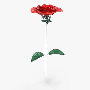 3D mechanical rose model
