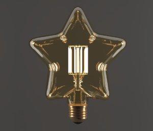 electric light bulb star 3D model
