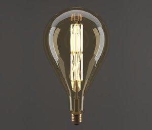 electric bulb drop 3D model