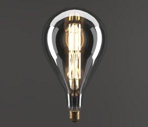 3D electric bulb drop