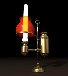 argand lamp 3D model