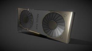 rtx titan graphics card 3D
