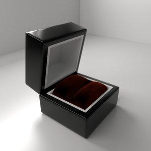 big wood ring box 3D