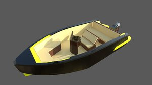 speedboat indomita ii 3D model