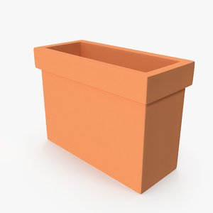 terra cotta planter box 3D model