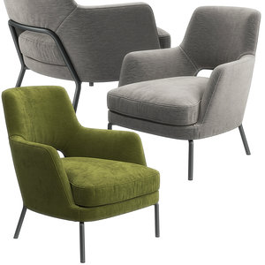 3D model joyce armchair flexform