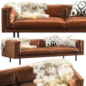 harvey straight arm sofa 3D