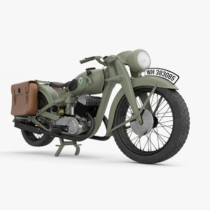3D antique motorbike model