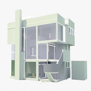 3D model smith house revit