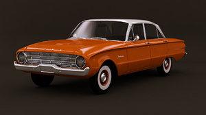 3D falcon 1960 car model