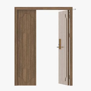 3D door wood modern