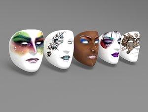 face masks 3D model