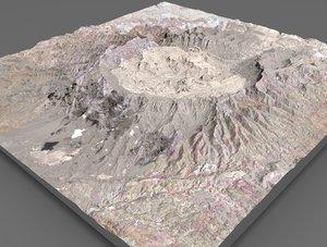3D mountain landscape crater