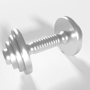 3D model dumbbell steel object