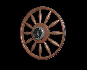 wagon wheel 3D