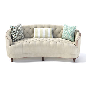 3D model classic elegance sofa