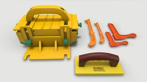3D wood workshop accessories model