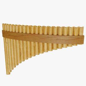 pan flute 3D model