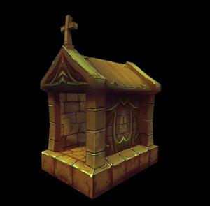 3D royal dog house model