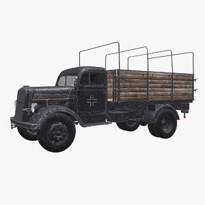 opel blitz truck 3D