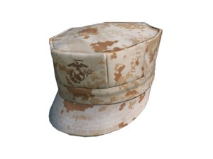 3D military marine hat model