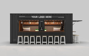 cafe container 1 3D