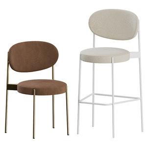 series 430 bar stool 3D