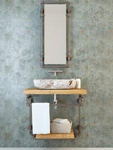 pipe furniture basin 3D