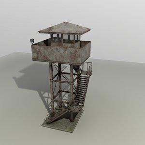 3D model wach tower