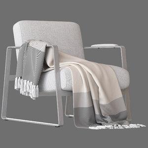 3D castlery cabe armchair